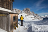 December 30, 2012 - January 1, 2013: Winter hike in the Dolomites<br /> The winter room of the rifugio.