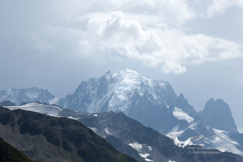 August 2012. View from Col de Balme.