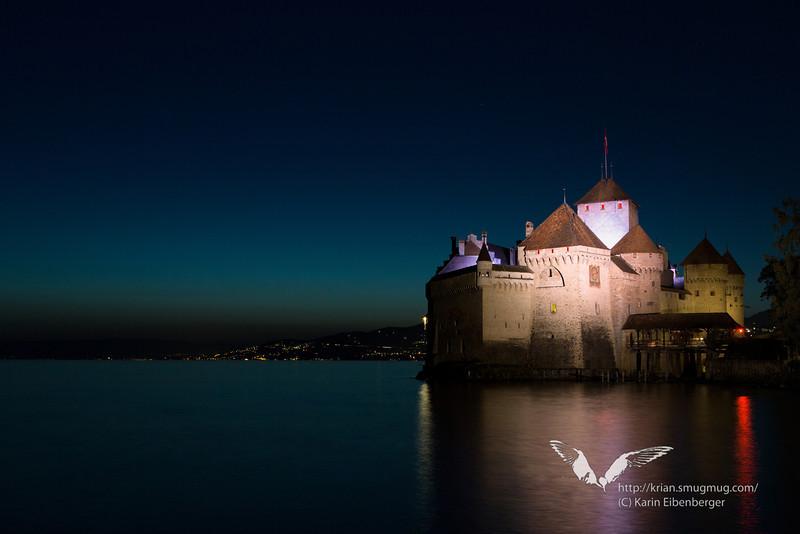 August 2012. Montreux - Chillon Castle.