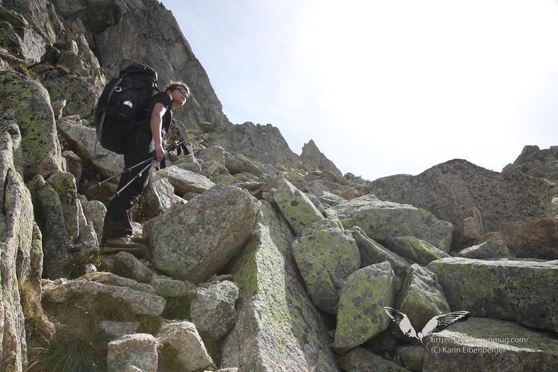 August 2012. Up onto the Col de la Fenetre.