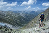 August 2012. Bernhard on top of the Col de la Fenetre. What a nice view!