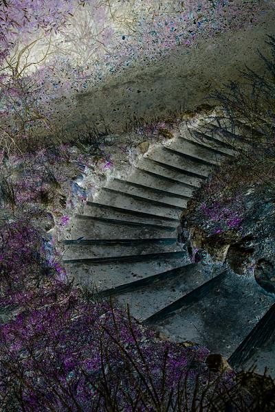 Impressionistic Stairway
