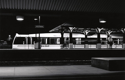 Waiting for a Train - Union Station, Los Angeles- Night