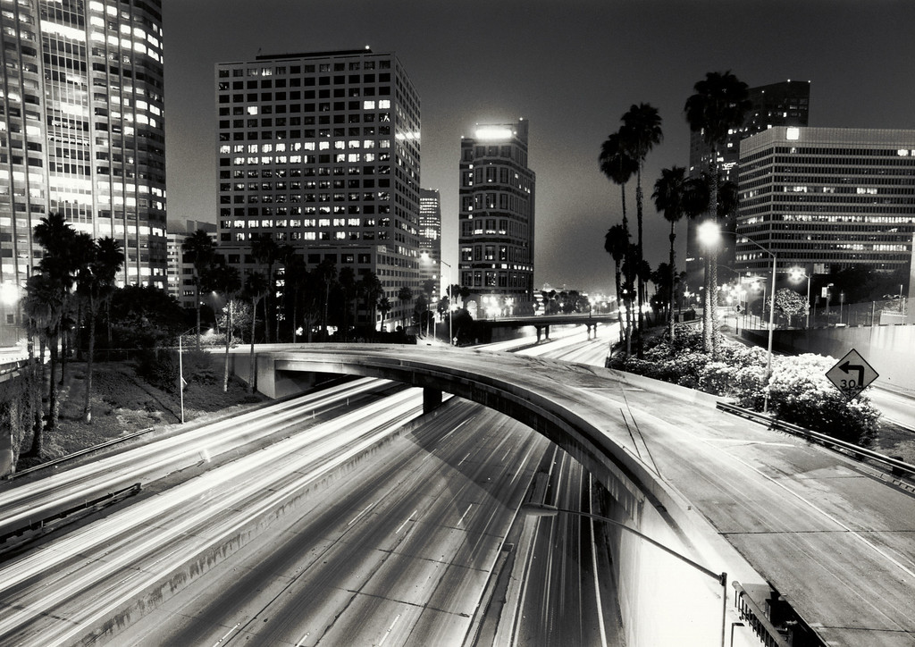 Harbor Freeway - Los Angeles - Night