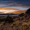 Sunset over the Sangre de Cristo mountains from a hill on Bear Basin Ranch near Westcliffe, Colorado