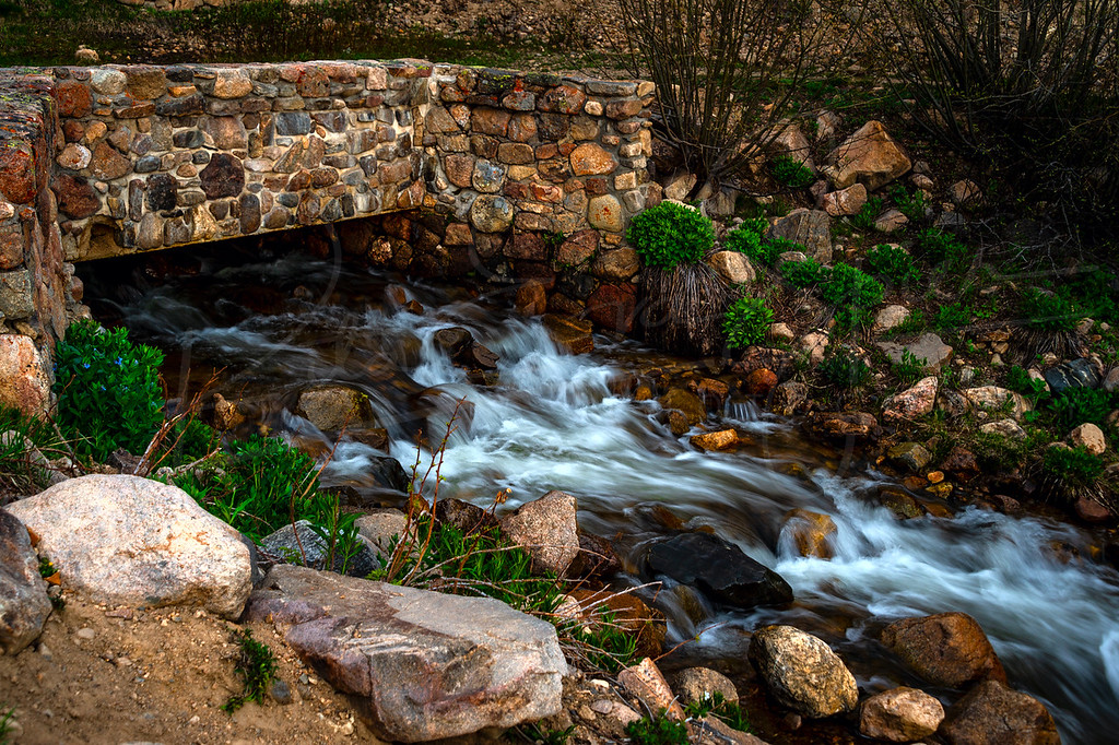 Berthoud Falls beyond the bridge