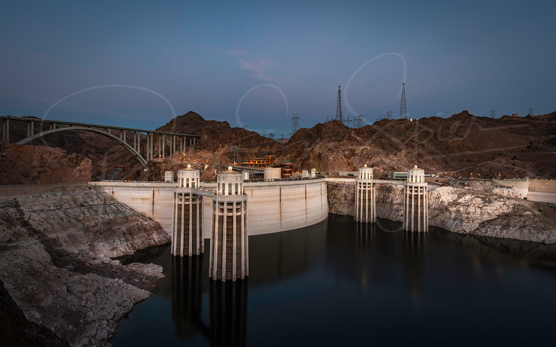 Hoover Dam at Daybreak