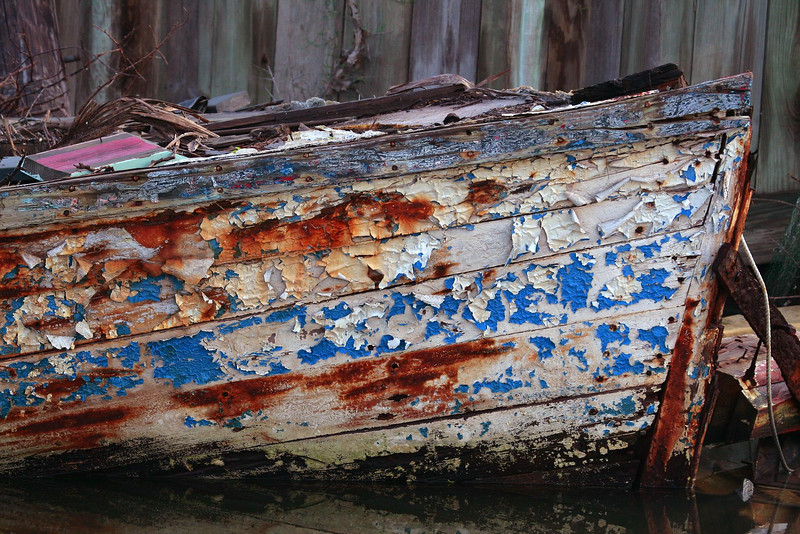 Rotting boat hull, Seabrook, Texas 11-23-09