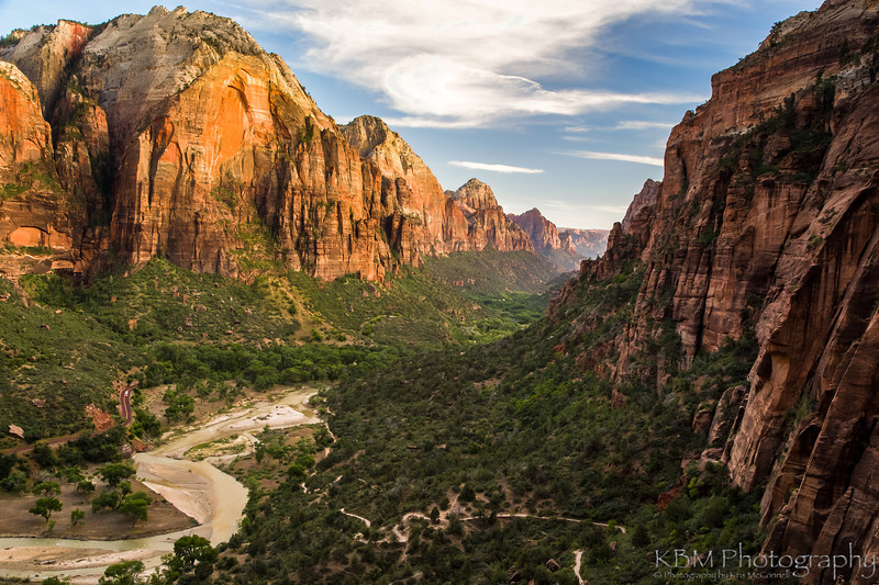 Angels Landing on Zion Valley