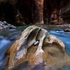 "The ""magic rock"" in the Zion Narrows, Zion National Park"