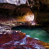 "The ""Subway"" in the fall season, Zion National Park"