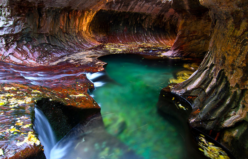 The Subway in the fall season, Zion National Park