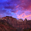 A beautiful sunset at Towers and Temples of the Virgin, Zion National Park