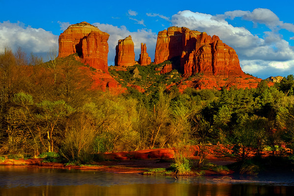 A Classic View Of The Cathedral - Red Rock Crossing, Sedona, Arizona