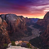 A colorful sunset at Angel's Landing, Zion National Park