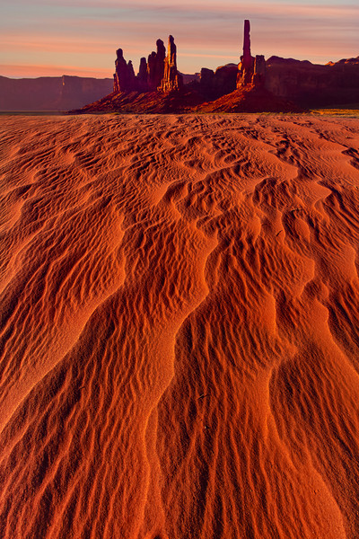 Snakelike Ripples Through The Desert - Monument Valley National Monument, Utah