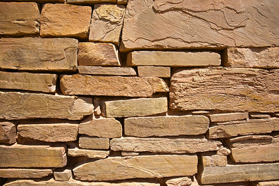 Rocks Placed in Antique Wall