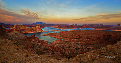 Lake Powell Expanse.  Arizona-Utah.  Spring 2011.