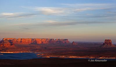 Lake Powell Sunset.  Arizona-Utah.  Spring 2011.