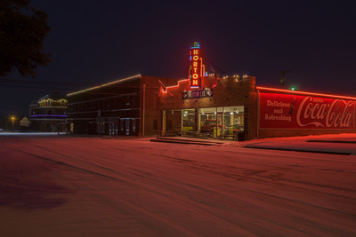 Downtown Nocona Neon At Night