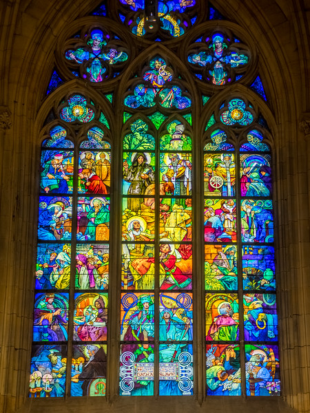 Prague St. Vitus Cathedral: Mucha stained glass window