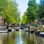 """Amsterdam Canals in Summer #3916""   Amsterdam, Netherlands"