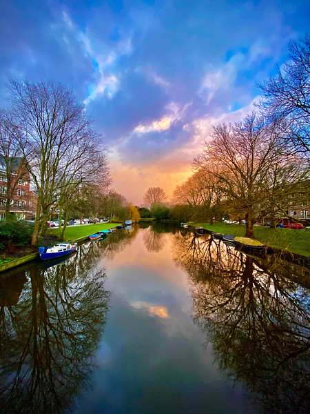 """""""Amsterdam Sunset along the Canal"""""""
