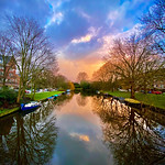 """Amsterdam Sunset along the Canal"""