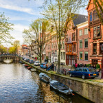 """Amsterdam Canals in Spring #0580""  Amsterdam, Netherlands"
