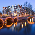 """Amsterdam Keizersgracht at Night""  Amsterdam, Netherlands"