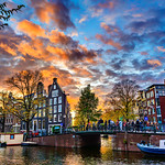 """Sunset over the Jordaan""  Amsterdam, Netherlands"