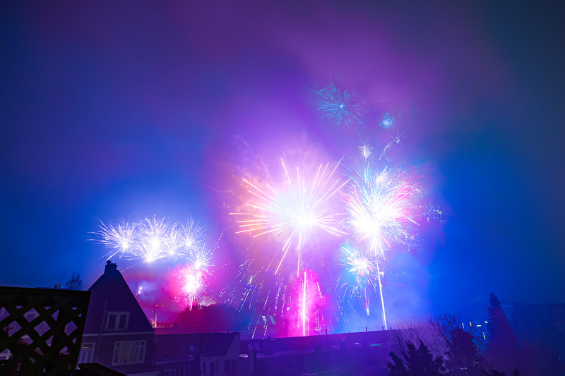 Amsterdam Fireworks in the City for New Years
