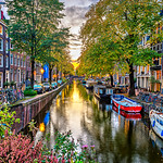 """Bloemgracht Sunset in Amsterdam"" Amsterdam, Netherlands, Nederlands"