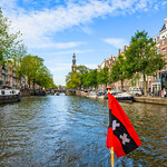 """Amsterdam Canals in Summer #3931""   Amsterdam, Netherlands"