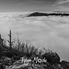200  G Biddle Butte Above Fog BW