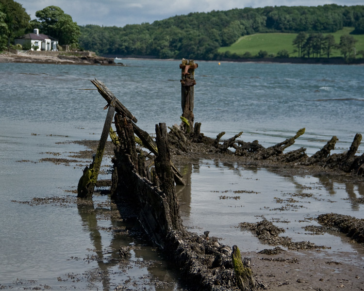 The wreck of the Seven Sisters nr Plas Coch