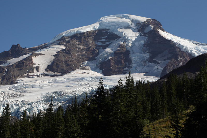 Look at that 1300 foot thick snow on the summit of Mt Baker I wonder if anyone has climbed that route?