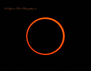 The ring of fire at just about the most perfect moment in the eclipse over Albuquerque New Mexico.