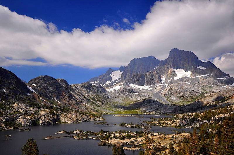 Garnet Lake, Mt. Ritter, Banner Peak, Ansel Adams Wilderness.