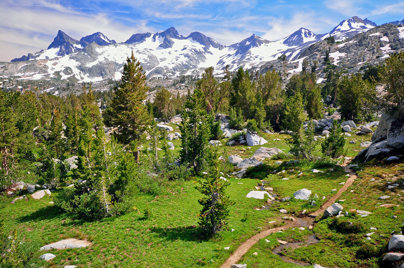 Ritter Range, from east of Donahue Pass, Ansel Adams Wilderness.