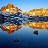 Dawn, Thousand Island Lake, Banner Peak and Mt. Davis, Ansel Adams Wilderness