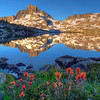 Thousand Island Lake, Banner Peak and Mt. Davis, Ansel Adams Wilderness