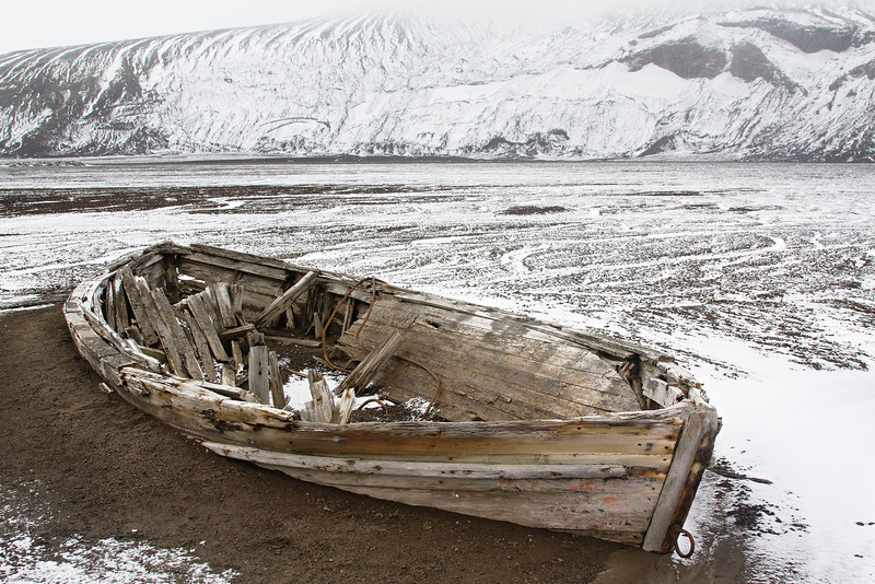 Old boat, abandoned whaling station.