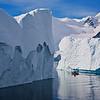 Passing icebergs