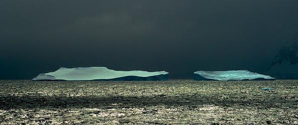 Shining Icebergs