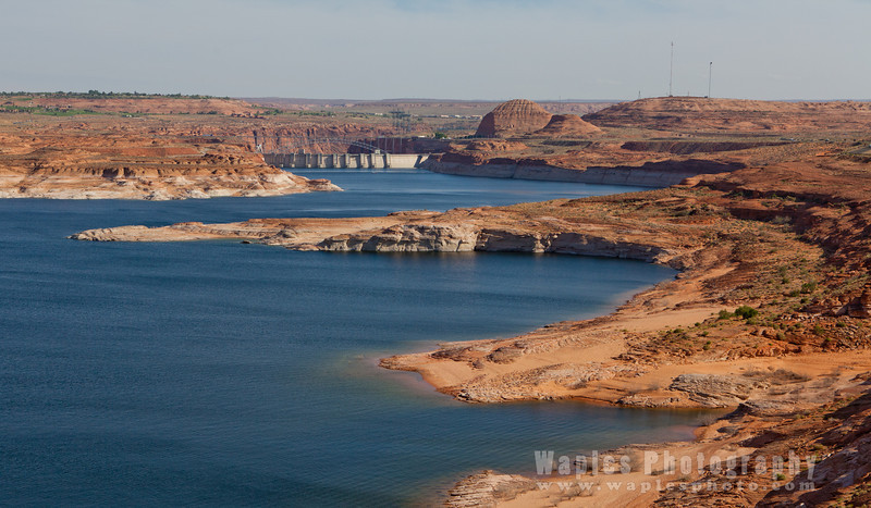 Lake Powell and the back of Glen Canyon Dam