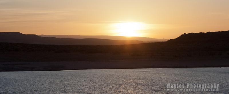 Sunset over Antelope Island