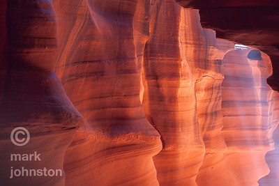 Antelope Canyon is a slot canyon near Page, Arizona.