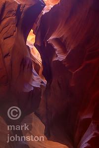 Antelope Canyon is a slot canyon near Page, Arizona.