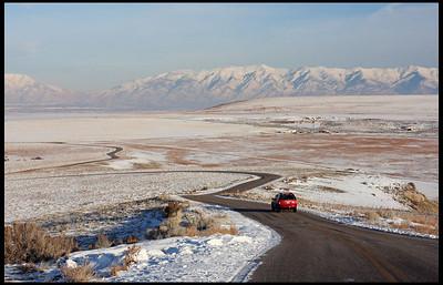 Antelope Island in winter